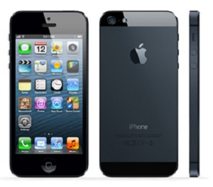 Apple iPhone 5 Black Front,Back,Side view