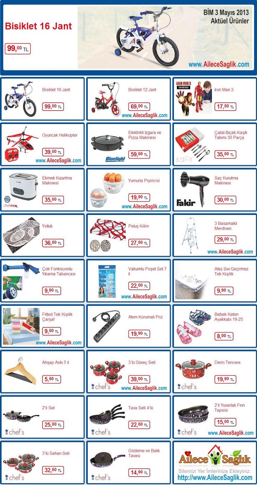 Bim aktüel ürünler broşürü