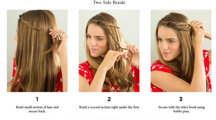 Quick Hairstyles For Short Hair Step By Step : Step By Step Easy Hairstyles Instruction For LongMediumShort Hair To ...