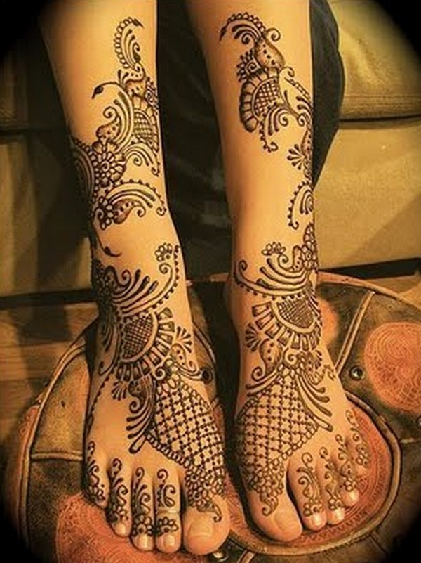 Bridal Mehndi For Leg : Latest bridal mehndi designs desings