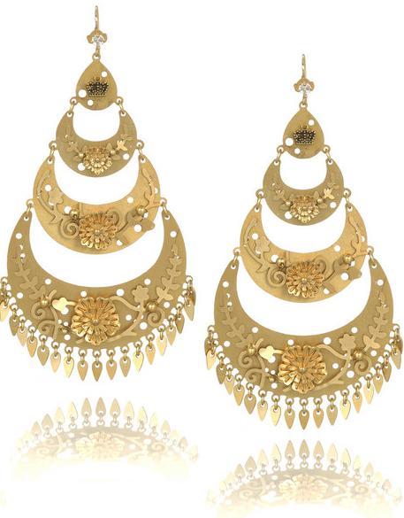 Stilletos And Stylish Divas Gold Earrings