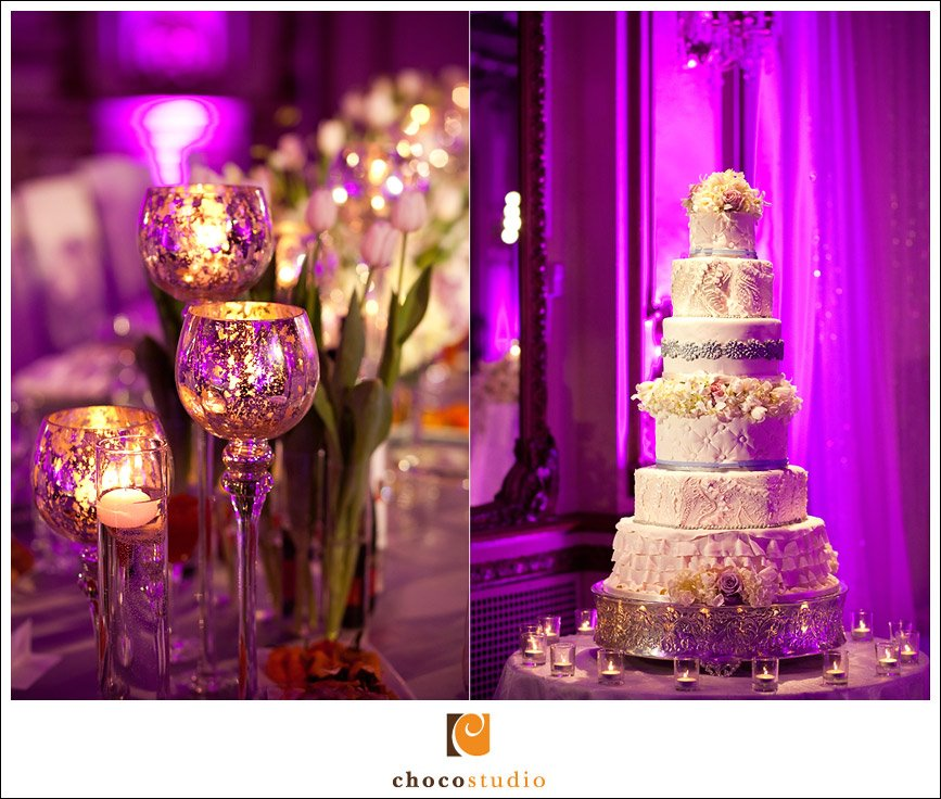 A DressInspired Wedding Cake at the Fairmont San Francisco