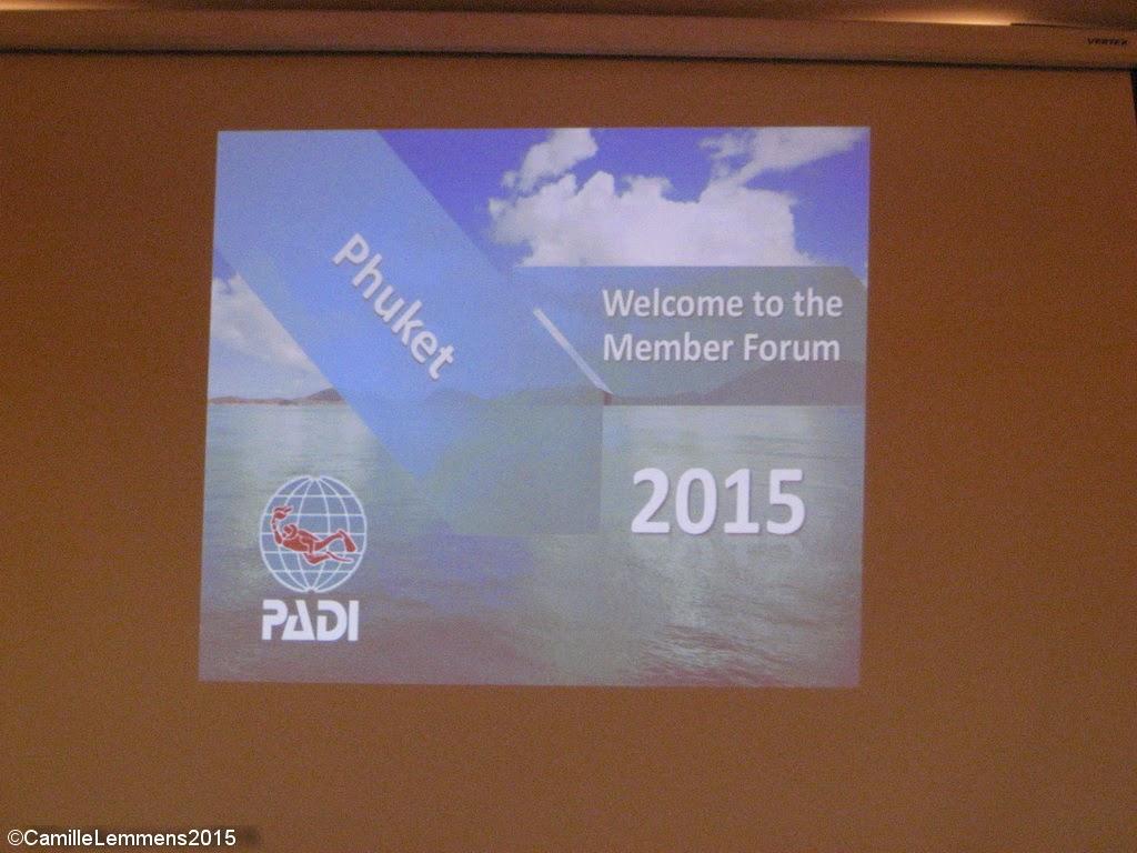 PADI Member Forum 2015 in Phuket