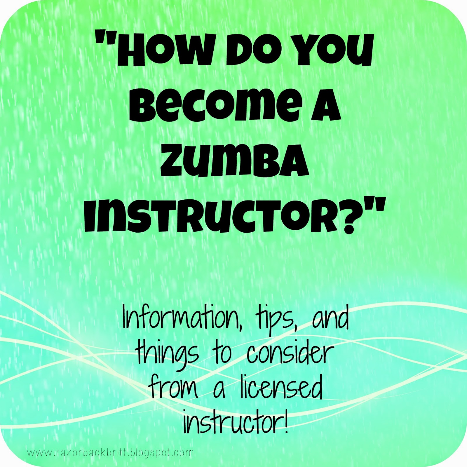 Find out how to become a Zumba instructor here.