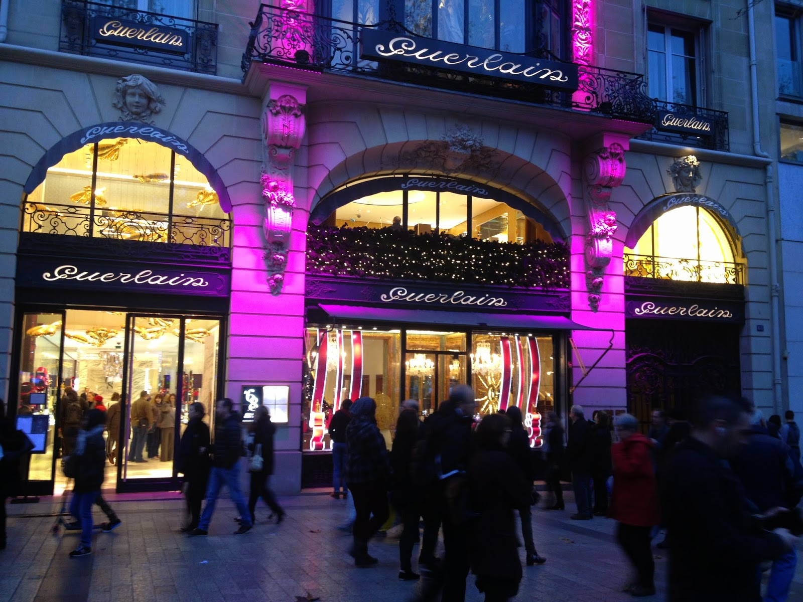 Guerlain holiday decorations, Champs-Elysées, Paris