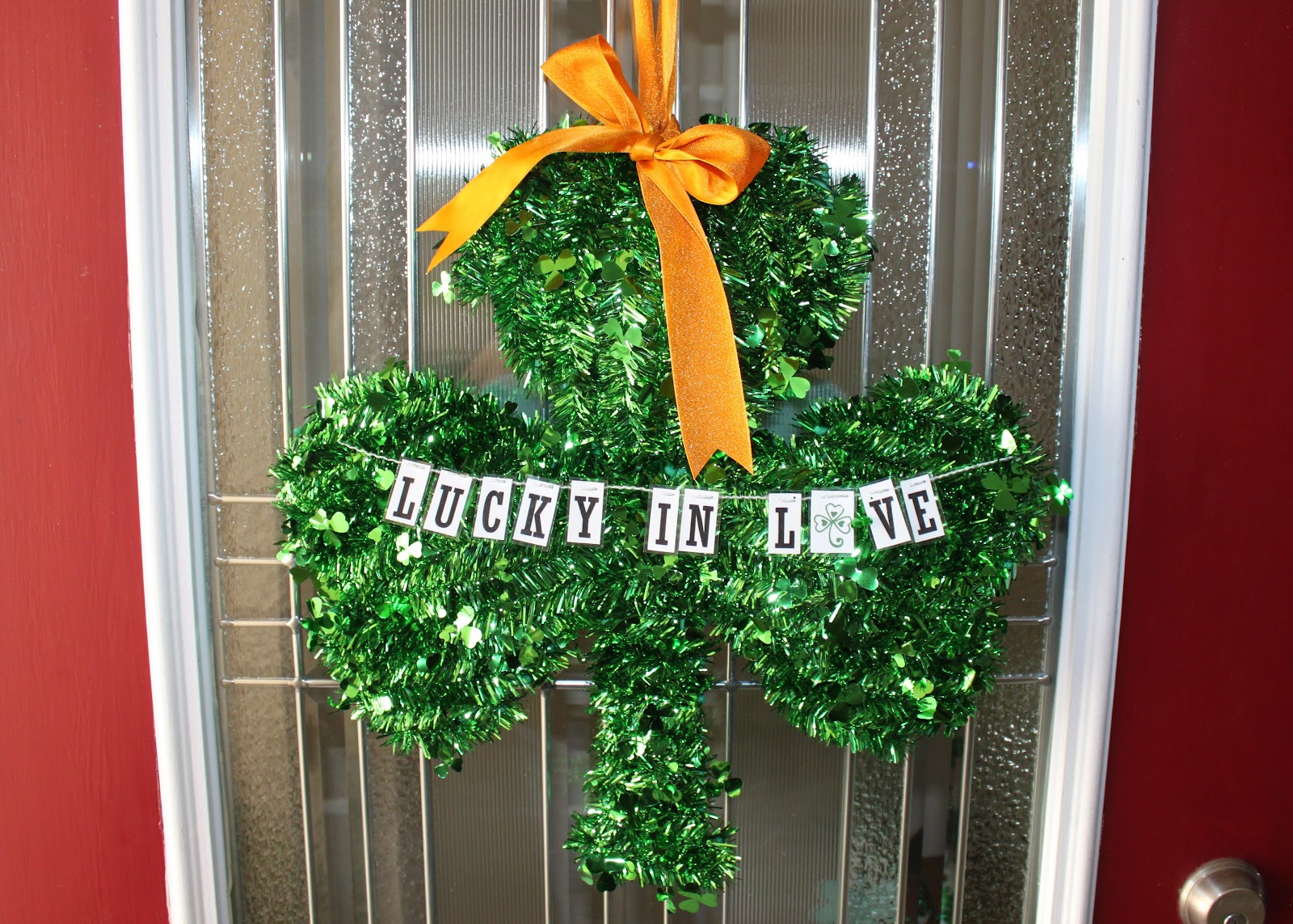 The chambers family for St patrick s day home decorations