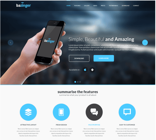 Landing Page - Free PSD