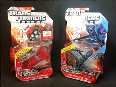 Transformers Prime Cliffjumper y Soundwave