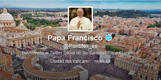 Imagen del perfil del Papa Francisco en Twitter