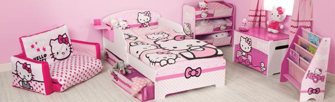 bricolage e decora o 10 quartos de princesa inspirados na hello kitty. Black Bedroom Furniture Sets. Home Design Ideas