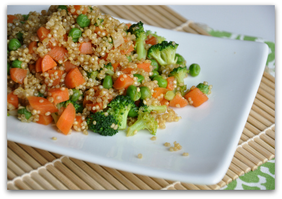 quinoa fried rice with vegetables