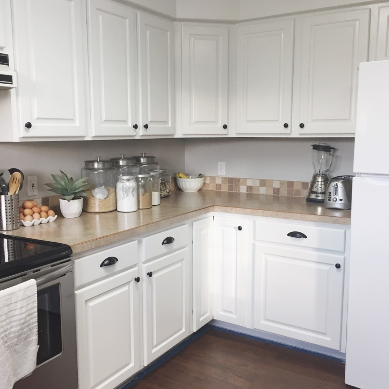 Inspirational I added new hardware to these cabinets too It us black and I bought all of it on Amazon for about That included all the knobs and