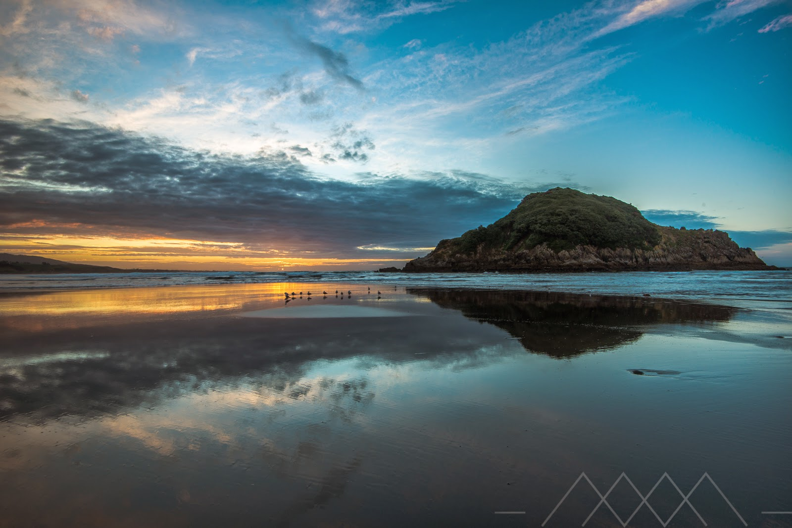 Mirror image Sugarloaf Islands New Plymouth