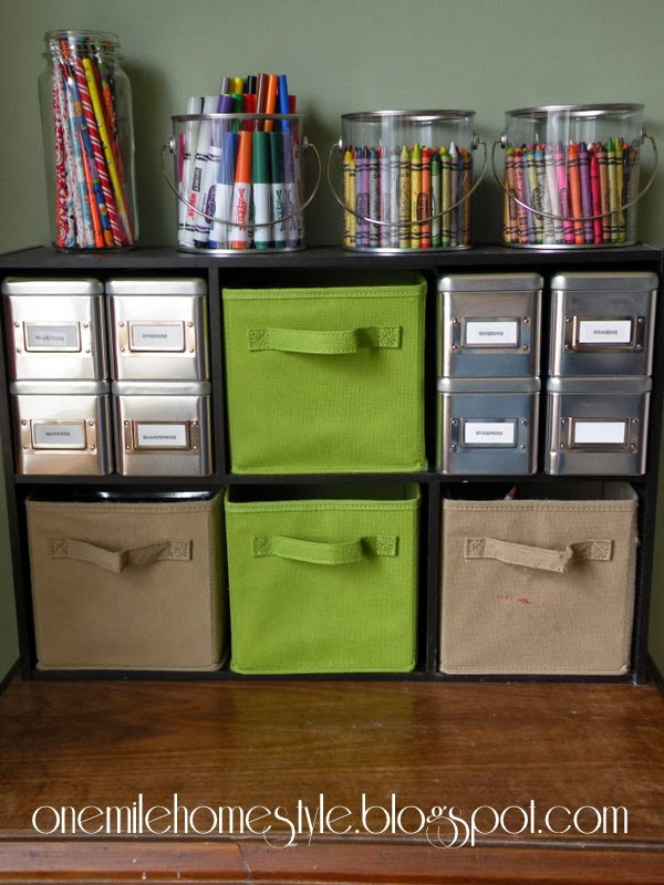 organizing kid 39 s art supplies. Black Bedroom Furniture Sets. Home Design Ideas