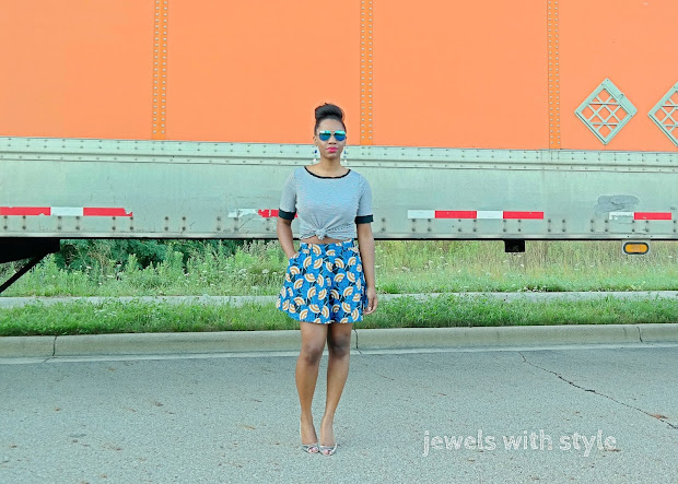 fall trends 2015, NYFW trends, print mixing, blue tribal skirt, ankara skirt, print mixing, how to mix prints, bold pattern skirt, blue pattern skirt, jewels with style, black style blogger, columbus ohio blogger