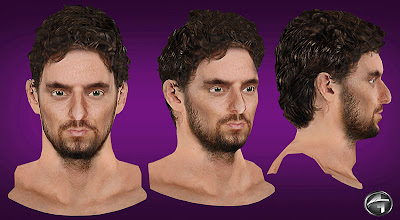 NBA 2K13 Pau Gasol Cyberface Patch