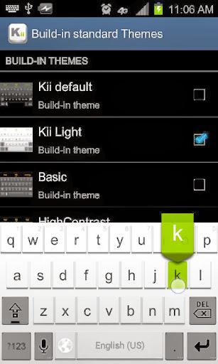 Kii Keyboard App Screenshot