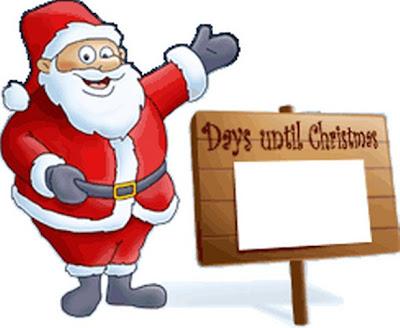 Santa Claus dando una bienvenida