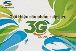 Đăng ký gói cước 3G Viettel nhanh nhất