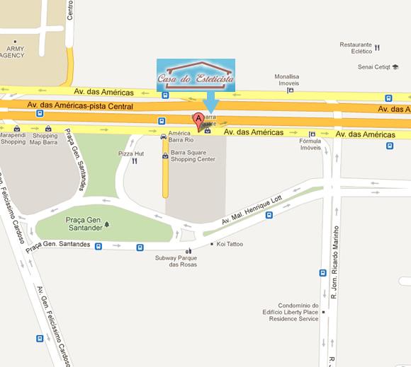 Como chegar a Casa do Esteticista Barra da Tijuca