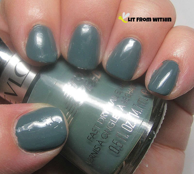 Revlon Essence, a dirty, muted grey-teal color that I just adore