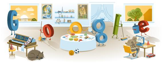 logo google selamat tahun baru 2013