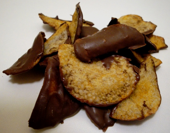 Chocolate Covered Barbecue Chips
