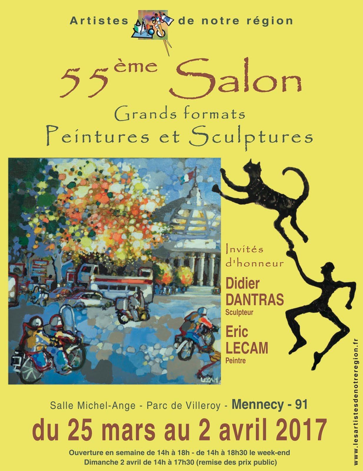 MENNECY (ESSONNE) : CAPTON EXPOSE AU 55ème SALON PEINTURE ET SCULPTURE GRANDS FORMATS