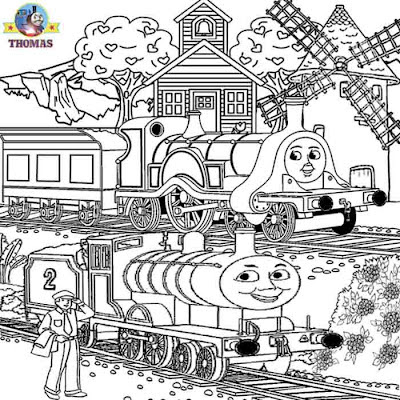 Train Emily and Edward Thomas colouring pages for teenagers printable worksheets online art classes