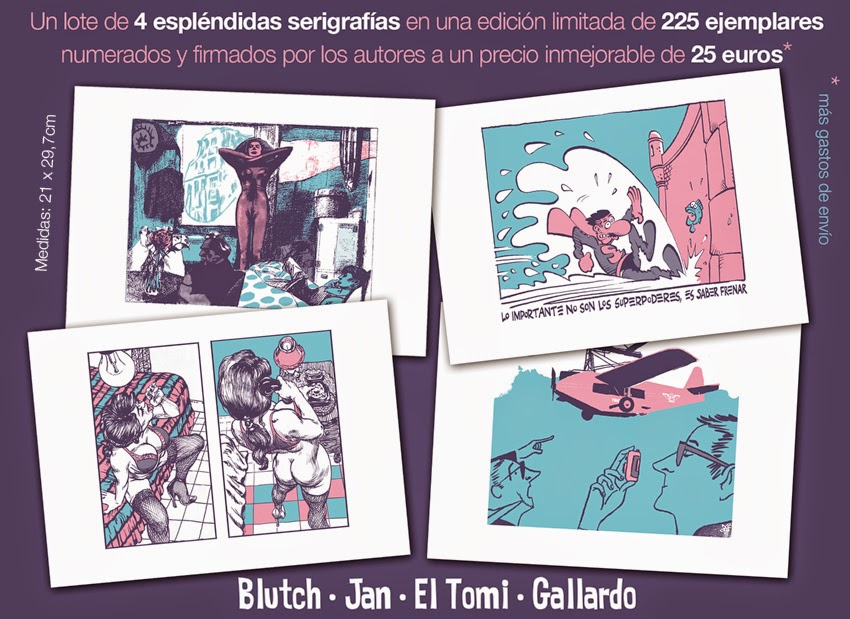 Serigrafías para el Festival de comic de Mallorca Comic Nostrum