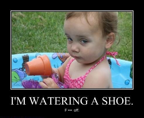 I m watering a shoe deal with it