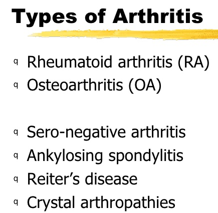 Different Kind of Arthritis