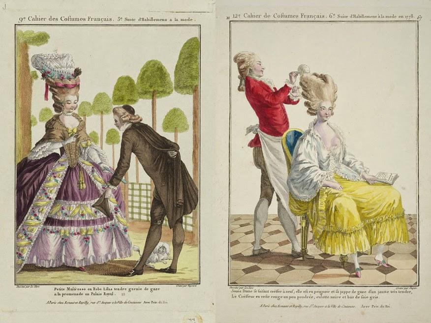 Прически 18 век простые