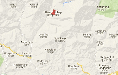 sindhupalchowk earthquake epicenter map