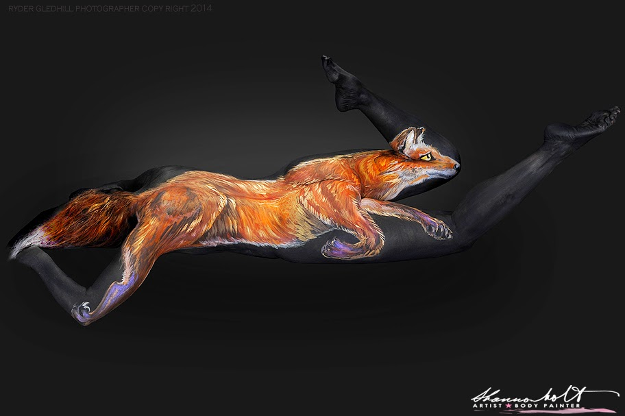03-Red-Fox-Shannon-Holt-Florida-Wildlife-Series-Bodypainting-www-designstack-co