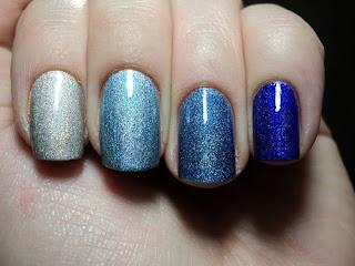 Uñas en tonos azules