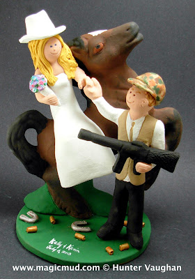assault rifle wedding cake topper