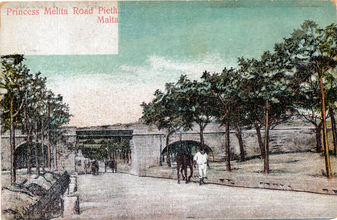 The Malta Railway On Old Postcards And Christmas Card