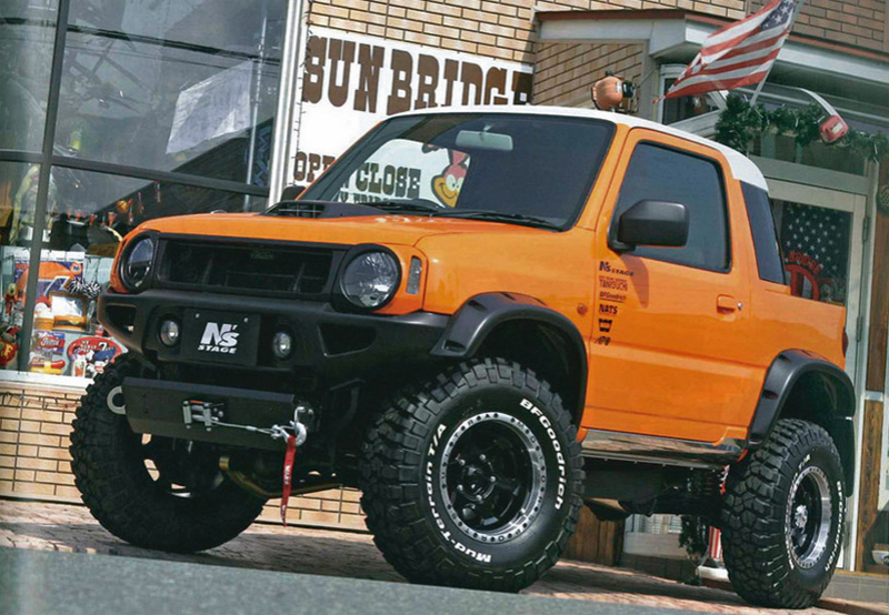 A Suzuki Jimny In Fj Cruiser Clothing Subcompact Culture