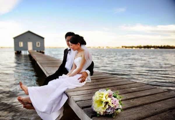 foto pre wedding di pantai
