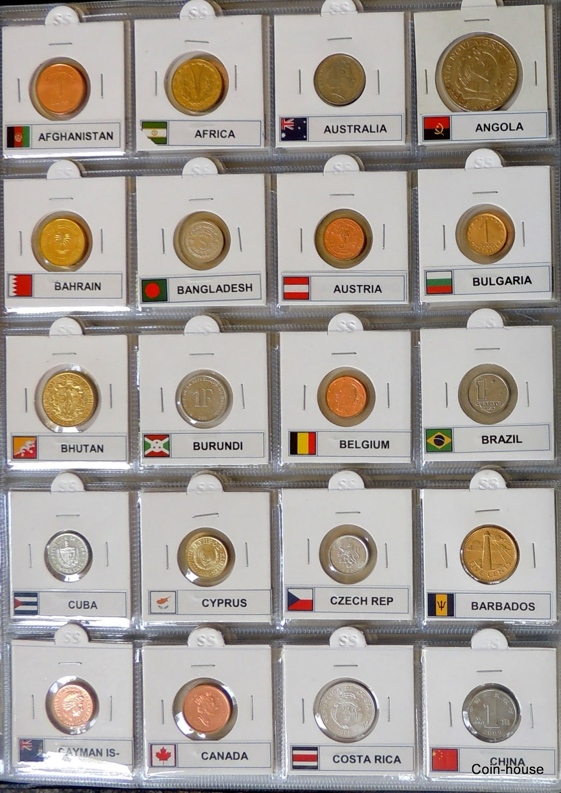 coinhouse 100 coins 100 folders 200 capacity album all