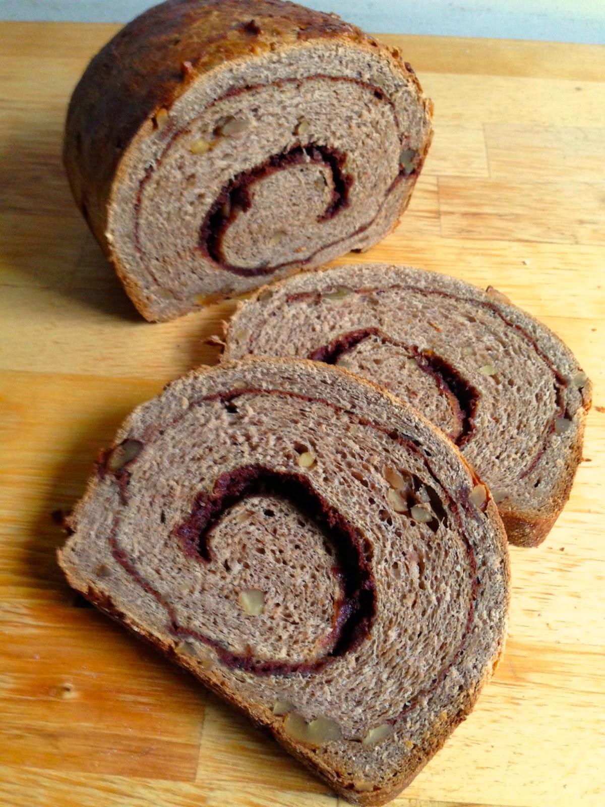 Brot & Bread: 100% WHOLE WHEAT CINNAMON SWIRL BREAD