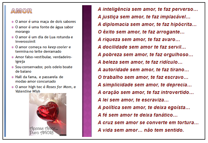 Amor do BB, Love or sweets