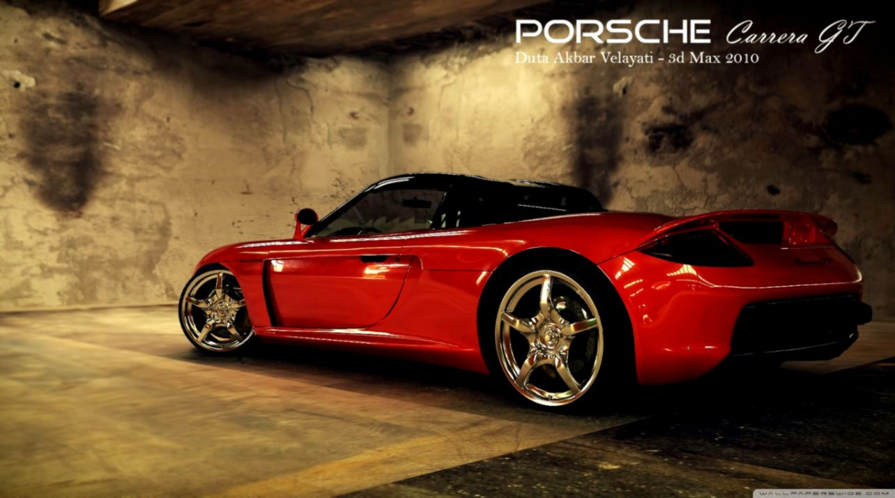 Porsche Carrera Gt Front View Wallpaper Desktop Background
