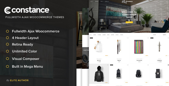 Free Download Constance - Full Width AJAX WooCommerce Wordpress Theme