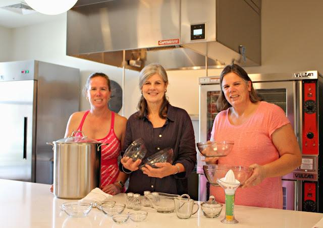Stocking the kitchen at Barrington's White House!