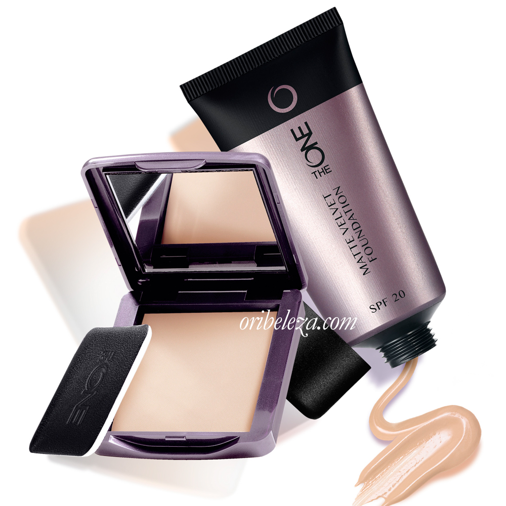 Base de Cor e Pó Compacto Mate Velvet The ONE da Oriflame