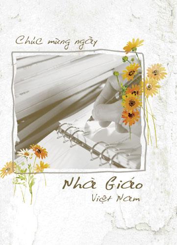 Những tấm thiệp đẹp chúc mừng ngày nhà giáo Việt Nam