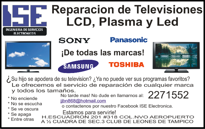 REPARACION TELEVISION LED-LCD-SMART TAMPICO - photo#12