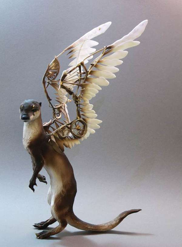 ellen jewett s animal sculptures are some interesting artwork seems to ...